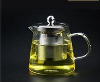 Wholesale 2016 Hot Sale Special Offer tea pot ml borosilicate Glass tea pot with glass lid tea mug with handle
