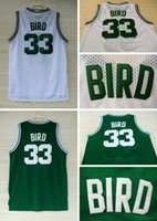 anti bird mesh - 33 Larry Bird Basketball Jersey Cheap Mesh Jersey Embroidery Logos Larry Bird Jersey White and Green