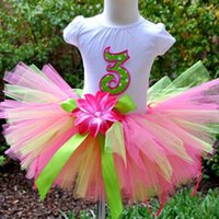 ballet cloth - Colorful Girl s Tutu Skirts Infant Baby Handmade Fluffy Ballet Party Tutus Pettiskirt with Ribbon Bow Headband Kids Cloth Free Shp