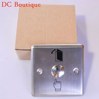 aluminium access - Door access control button NO signal automatically restroration aluminium alloy switch standard Door release swithc