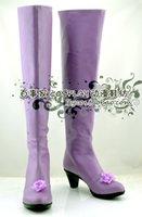 al por mayor botas de tacón de color púrpura-Venta al por mayor Rozen Maiden Suigintou Mercury Lampe violeta púrpura de tacón alto cosplay botas zapatos de arranque de zapatos # NC374 anime Halloween de Navidad