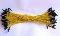 Wholesale p p female female dupont jumper cable mm Yellow cord cm