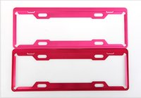 Wholesale Magnesium Alloy Frame Plate Car Number License Plate Frame Holder framework Multi color optional