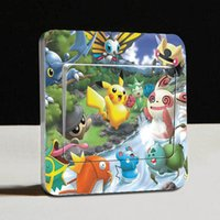 Wholesale New Popular Pocket Monsters Pikachu Decal Removable Square Plug Switch Wall Sticker cm cm Home Decor Art Kids Nursery Party Decoration