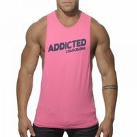 barcelona prints - New Brand Addicted Barcelona Print Letter Tank Top Fitness Muscle Mens Bodybuilding Wear Fitness men Vest