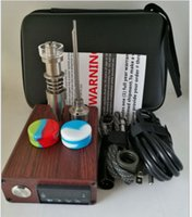 nails for wood - wood e nail new titanium Nail Glass Bong Electronic Temperature Controller Box For DIY Smoker D nail Coil Wax Dry Herb box dabber