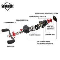 Wholesale New SeaKnight Brand ELF Carbon Fiber Super Light g Two Brake Systems Baitcasting Fishing Reel BB Baitcasting Reel