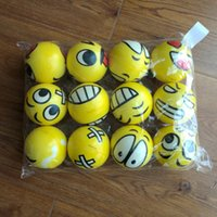 Wholesale Emoji Faces Squeeze Stress Ball Hand Wrist Finger Exercise Stress Relief Therapy Assorted Styles New Christmas party gifts ZD126B