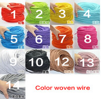Wholesale High Quality M vintage cable fabric electrical wire DIY pendant light electrical cable woven braided cable power cord