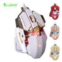 Wholesale Original Brand LUOM G10 Adjustable Gaming Mouse DPI Optical Mechanical Programmable USB Wired Mice Competitive LOL