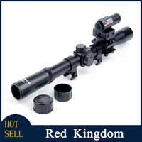 Cheap 4x20 Air Gun Rifle Optics Scope Caza Tactical Riflescope +20mm Rail Mounts +Red Dot Laser Sight For Hunting Airsoft Supplies