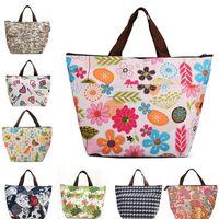 Wholesale New hot sale cheap handbags D Oxford cloth waterproof canvas tote bags printing ice bag Lunch box lunch bag handbag