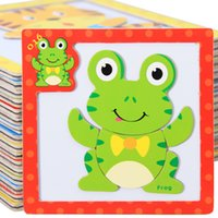 baby tiger woods - Baby Toys D Magnetic Puzzles Wooden Toys Tiger Bear Frog Cartoon Animals Puzzles Tangram Child Educational Gift