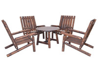 Wholesale Outdoor Furniture High Quality Leisure Wooden Garden Set Table And Chair