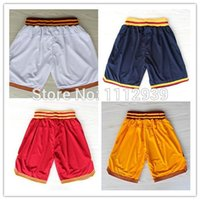 basketball shorts prices - Cheap James Kyrie Irving Mark Price Kevin Love Retro Basketball Shorts Embroidery Logos