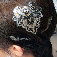 best tattoo flash - Best Quality Hot Feather Bird Tattoos Henna Paste Flash Tattoo Temporary Tattoo Tatouage Tatuagem Halloween Decoration Gold Hair Tattoos
