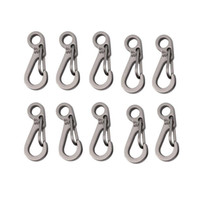 Wholesale Survival Outdoor Mini Aluminium Hang Buckle Quickdraw Key Chain new arrival