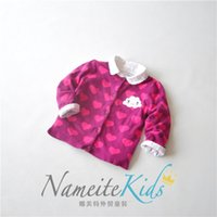 beautiful love knitting - Beautiful girls all love single cotton double jacquard knitted cardigan kids sweaters knittwear girls clothes