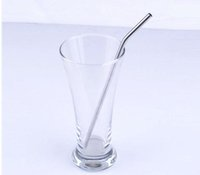 Wholesale Stainless Steel Straw bend drinking straw beer and fruit juice straw DHL