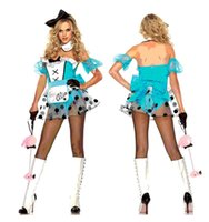 bad halloween costumes - Alice in Wonderland costume blue classic Halloween and beautiful Bad Girl Alice Costume