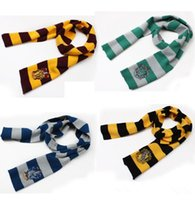 acrylic knit scarf - 2106 Harry Potter Scarf Gryffindor School Unisex Knitted Striped Scarf Gryffindor Scarve Harry Potter Hufflepuff Scarf Cosplay by DHL