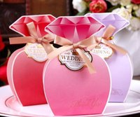Wholesale Candy Rose Clothing Wholesale - Candy Small Box Creative Wedding Supplies Candy Candy Clothes Style Diamond Carton