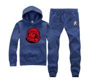 ans sports - hip hop mens set matching couple hoodies ans pants sports skateboard pullover suit BBC men Color Block Clothes