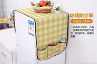 Wholesale The refrigerator refrigerator cover dustproof cover lattice bag creative Home Furnishing universal universal cover towels