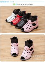 Wholesale new Princess girl Sandals Shoes New Starto Hollow Kids Sandals Summer Fashion Children zipper Shoes bunny ear sandals A5381
