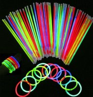 Wholesale 100 led party fluorescence fluorescence stick bracelets necklaces neon colored Christmas Party Wedding Decal TB sales