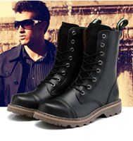 Wholesale New England Style genuine leather Martin Boots Martin Shoes Men Designer Motorcycle Boots Size