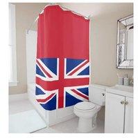 Wholesale Customs W x H Inch Shower Curtain Flag United Kingdon Waterproof Polyester Fabric DIY Shower Curtain
