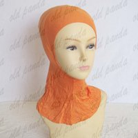 Wholesale New Style Muslim Inner Hijab Caps Plain Ninja Hats Cap Under Scarf Bonnet Cover Neck Islamic Headscarf