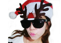 Wholesale Milu Deer Antlers Christmas Glasses Party Glasses Party Accessories