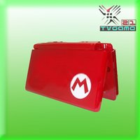 Wholesale Mario Red Full housing Shell Case Cover Replacement Set for Nintendo DS Lite NDSL Game Console Repair parts
