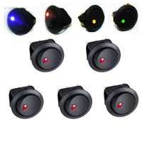 auto toggle rocker switch - 5Pcs Red V LED Dot Light Car Auto Boat Round Rocker ON OFF Toggle Switch