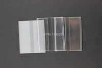 acrylic wall sign holders - 3 cm acrylic label holder wall desktop adhesive flat label holder price card tag sign holder label frame