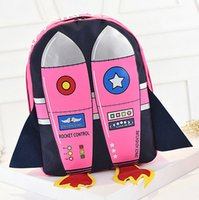 aircraft air quality - Pink Blue Rocket backpack D air injection aircraft school bag Cool design day pack Nylon rucksack Quality daypack