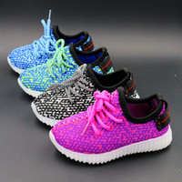 Wholesale 2016 new Colors sizes kids LED Luminous sneakers Boys and girls shiny Running Sports light up Shoes booties toddler shoes