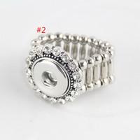 al por mayor botón de elegir-5 estilos elija el ANILLO cristalino del estiramiento del BOTÓN de SNAP del anillo del DIY. DIY anillo elástico sin botones de botón de encaje