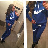 active clothes - Hot New Women active set tracksuits Hoodies Sweatshirt Pant Running Sport Track suit Pieces jogging sets survetement femme clothing