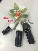Wholesale V E27 W Ultraviolet UV curing Blacklight lamp Black Light Bulb Purple stage fluorescent light show