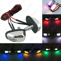 Wholesale 30pair Car Universal Chrome Hood Windshield Washer Jet Nozzle Spray With LED Light Colors for Choice