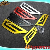 Wholesale One set Front and Rear Motorbike Footrest Step Motorcycle Pedals Foot Pegs For Yama ha TMAX T max Motorcycle Parts