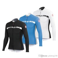 Wholesale Cast Long Sleeve Cycling Jerseys Men Winter Thermal Fleece Warmer Bicycle Clothing Black White Blue High Elastic Bicycle Wear XS X