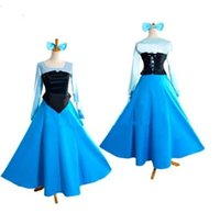 Wholesale Adult The Little Mermaid Ariel Princess Cosplay Halloween Costume Party Dress
