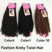 best extensions for curly hair - 6PACKS Hot Sales Synthetic Hair Extensions Top Fashion Afro Twist Braids quot cm For Kanekalon Braiding Color1 Best Quality