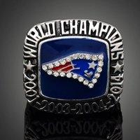 Envío libre de alta calidad pesada Sólido New England Patriot anillo súper Bowl Championship aficionado deportivo Hombres mejor regalo al por mayor de joyería
