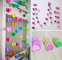 baby prop basket - Colorful Baby Shower Lovely D Heart Garland Wedding Paper Banner Birthday Photo Prop Garland Valentine Day Decoration Banner cc653