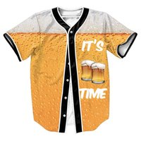 beer time - Its Beer Time Jersey Summer Style with buttons d Hip Hop Streetwear Men s shirts sport tops baseball shirt top tees